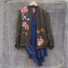 Johnny Was Silk Bomber Jacket | Lulu Boutique, Cartersville, CA
