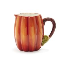 Pumpkin Pitcher ($20) ❤ liked on Polyvore featuring home, kitchen & dining, serveware, serving pitchers, water pitcher, thanksgiving serveware, sur la table and wine pitcher