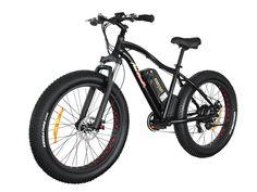 Addmotor MOTAN Electric Mountain Bike Fat Tire 10.4AH Lithium-Ion Battery 48V 500W Bicycles Shimano 7 Speeds TX55 Gears M-550 E-bike(Black)