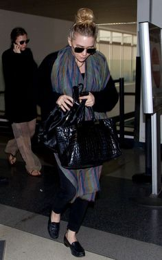 ASHLEY | TOP KNOT + SCARF | LAX AIRPORT -- Click to get the look...