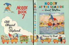 Noddy at the Seaside by Enid Blyton Enid Blyton Books, Mini Craft, Victorian Dollhouse, Barbie, Book Cover Design, Altered Books, Mini Books, Doll Accessories, Paper Dolls