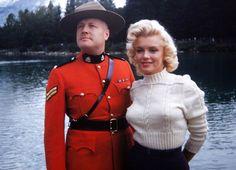 Marilyn Monroe in Canada, 1953.