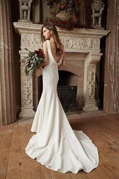 Trendy Wedding Dresses : The Romantic & Luxurious Jenny Yoo Bridal Wedding Dress Collection 18 V Neck Wedding Dress, Luxury Wedding Dress, Backless Wedding, Glamorous Wedding, Bridal Wedding Dresses, Romantic Weddings, Timeless Wedding Dresses, Trendy Wedding, Expensive Wedding Dress
