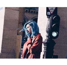 Amanda Steele // blue hair