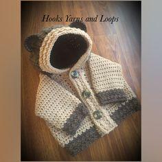 Crocheted Baby Bear Hoodie @hooksyarnsandloops