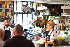 Machneyuda in Jerusalem's Machane Yehuda market is one of the craziest restaurants I've ever been to. Luckily, it's crazy good, too! #wininganddining #jerusalem #machneyuda #machaneyehuda #israel #visitisrael #foodie #foodblog #travelblog #foodietravels #restaurantsinisrael #wanderlust #exploretheworld