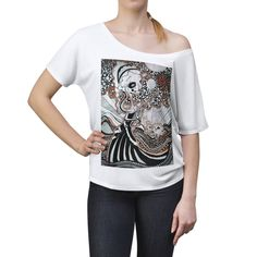 Women's Slouchy top Comfortable Fashion, Scoop Neck, Fabric, Tops, Style, Tejido, Swag, Tela, Cloths