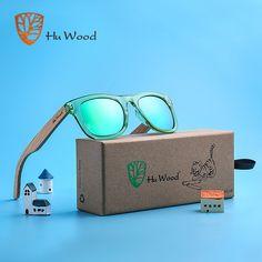 135ca57f82f HU WOOD Brand Design Children Sunglasses Multi-color Frame Wooden Sunglasses  for Child Boys Girls