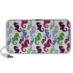 Seahorses Pattern Nautical Beach Theme Gifts iPod Speaker