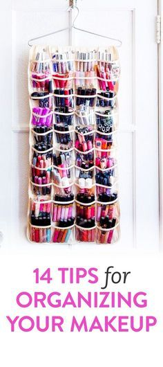 DIY tips for organising your makeup | Interesting, and thrifty ideas for sorting your cosmetics. For more great organization tips, check out makeuptutorials.com
