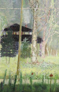Peter Doig, Detail of Daytime Astronomy Grasshopper). Peter Doig, Chelsea School Of Art, Modern Art, Contemporary Art, Painting Studio, Silhouette, Malm, Illustrations And Posters, Landscape Art