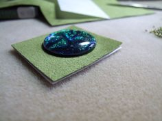 embroidery cabochon tutorial - crafts ideas - crafts for kids