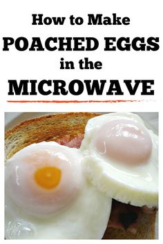 Make microwave poached eggs in one minute. This recipe is an easy, fast way to enjoy a hot breakfast on even the busiest morning. Poached Eggs Microwave, Easy Poached Eggs, How To Make A Poached Egg, Eggs In Microwave, Poached Egg Recipes, Microwave Egg Poacher, Easy Microwave Recipes, Microwave Breakfast, Breakfast Dishes