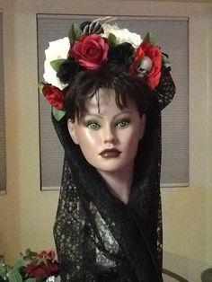 My Dia De Los Muertos headband I made for Halloween.
