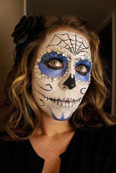 """From Dahlias to Doxies: """"Dia de Los Muertos"""" Sugar Skull Face Paint Tutorial"""