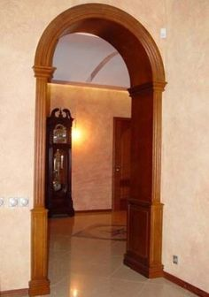 межкомнатный проем - Поиск в Google Door Design, Exterior Design, House Design, Wooden Arch, Wooden Doors, Concrete Casting, Internal Design, Door Trims, Wood Pallets