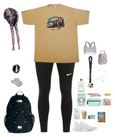 """""""School"""" by kansas-girl0 on Polyvore featuring NIKE, The North Face, adidas, L'Oréal Paris, Burt's Bees, LifeProof, Beats by Dr. Dre, Calvin Klein, Vera Bradley and Apple"""