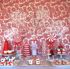 Red & White Christmas/Holiday Party Ideas | Photo 1 of 26 | Catch My Party