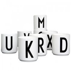 The Design Letters Arne Jacobsen Vintage ABC Cups make great pencil pots or toothbrush holders for yor student room. Student Room, Student Living, Arne Jacobsen, Decorative Accessories, Home Accessories, Lettering Design, Design Letters, Diy Tableware, Coffee Coasters