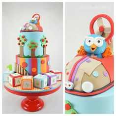 Giggle and Hoot cakes Gorgeous Cakes, Pretty Cakes, Cute Cakes, Amazing Cakes, Fondant Cakes, Cupcake Cakes, 1st Birthday Cakes, Birthday Ideas, Birthday Parties