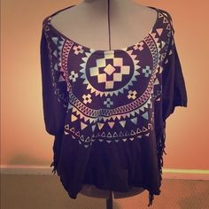 Urban outfitters Tribal print top size medium Worn once. Urban outfitters Tribal print top. Super cute but I have to get rid of some stuff. This top is flows nicely and comfortable!! size medium Urban Outfitters Tops