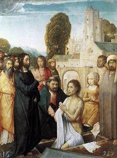 Juan de Flandes - Resurrection of Lazarus - WGA12049 - Retablo de Isabel la Católica - Wikipedia, la enciclopedia libre