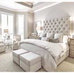 Master Bedroom Interior Design Ideas, Color Scheme plus Decor Master Bedroom Design, Bedroom Inspo, Dream Bedroom, Home Bedroom, Bedroom Decor, Master Bedrooms, Master Suite, Classy Bedroom Ideas, Home Interior