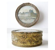 Antique jewelry box small trinket box