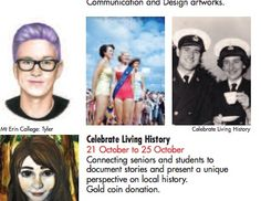 Celebrate Living History of Frankston exhibition in the Frankston Arts Centre Whats on brochure. September 2014