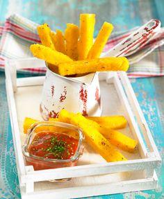 Polenta frita con salsa barbacoa   Delicooks   Good Food Good Life