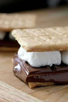 Grilled S'mores : ) Who would have thought the old George Foreman grill would work for these beauties LOL.