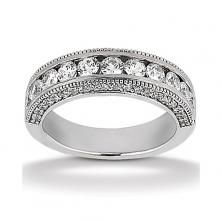 14k White Gold Womens Diamond Anniversary Or Wedding Band Containing 1.5 Carats Of Diamonds In Hi Color And Si1-si2 Clarity