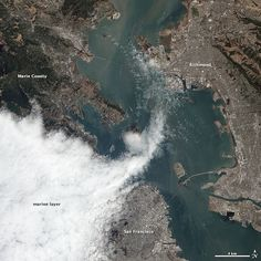 san francisco from space  (I can see my house!)