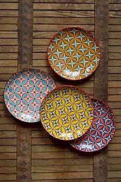 Set of Four Ceramic Decorative Plates