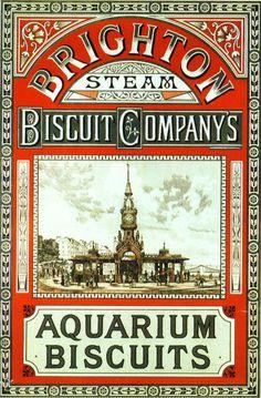 """Vintage Ad - Brighton Steam Biscuit Company - """"Aquarium Biscuits""""  (?)"""