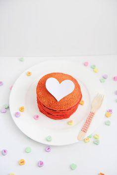 DIY Valentine Breakfast Ideas: Red Valentine Heart Pancakes - Entertain | Fun DIY Party Craft Ideas