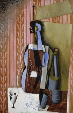 Juan Gris (Spanish, 1887-1927), Violin, 1913. Oil on canvas, 92.1 x 60cm. Philadelphia Museum of Art.