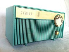 Vintage Turquoise Aqua Tube Radio by Zenith 1961 Model F508 op Etsy, 38,65 €