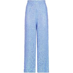 Temperley London Tiara Trousers (14.485.070 IDR) ❤ liked on Polyvore featuring pants, blue trousers, temperley london and blue pants