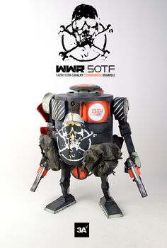 WWR | SOTF 1/6th scale 13TH CAVALRY COMMANDER BRAMBLE is available now at www.bambalandstore.com for 300USD with Free International Shipping included in the price. #threeA #AshleyWood #Worldof3A #WWR #WorldWarRobot #Bambalandstore #artpiece #toy #actionfigure #toyplanet #toys #hobby #toycollector #art #collectibles #vinyl #designertoys #toyphoto #collecting
