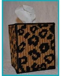 Plastic Canvas Tissue Box Patterns | Everything Plastic Canvas - Leopard Print Tissue Box Cover