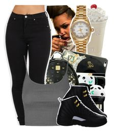 """‼️‼️"" by teyannaa1 ❤ liked on Polyvore featuring Rolex, Topshop and NIKE"