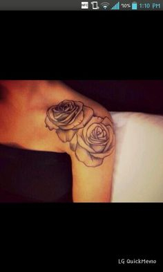 Rose tattoo. Too cute.