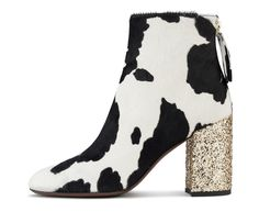 best cheap 512ce f7a25 Ankle boot with cow print