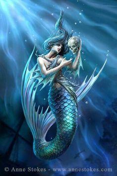 """Sailor Ruin"" Artwork by Anne Stokes"