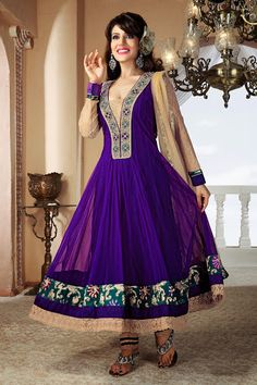 Exotic Deep Purple Salwar Kameez | StylishKart.com