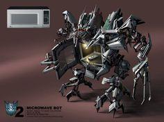 Microwave Bot se transforma en un microondas y al parecer es realmente peligroso. #Decepticons