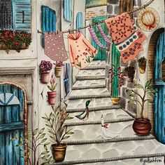 "644 Likes, 37 Comments - gulsah kalebas (@gulsahkrm) on Instagram: ""Alaçatı style ☛@alacatiturkey #glshscolors #romanticcountry #romanticcountrycoloringbook…"""
