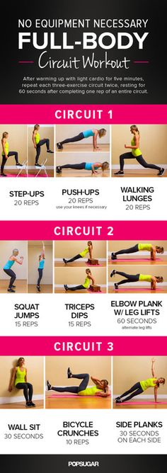 Printable Full-Body Circuit Workout — No Equipment Needed! | Healthy Living - Yahoo Shine