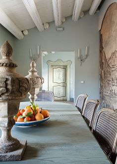 I spy a hue like Devine Beluga speaking the language...  Breakfast room at 7 Rooms Villadorata, Italy